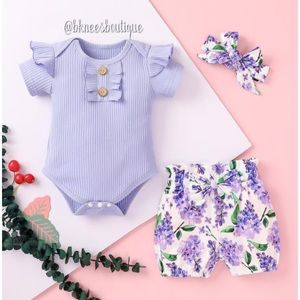 Purple Lavender Babygirl Boutique Matching Outfit